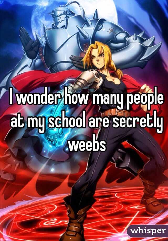 I wonder how many people at my school are secretly weebs