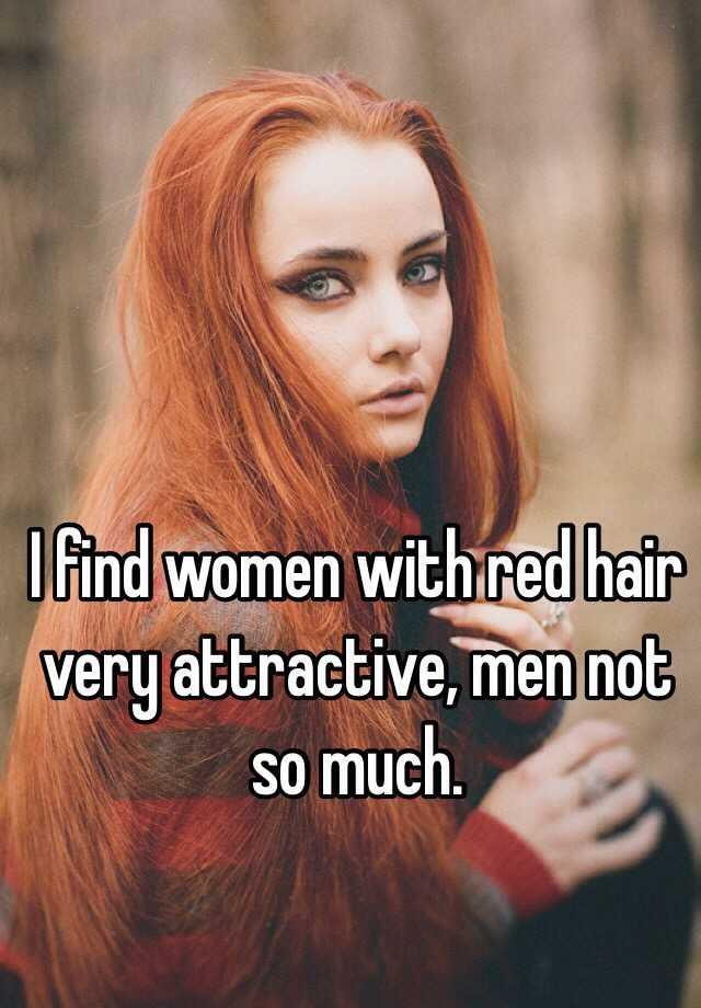 Why men love red hair