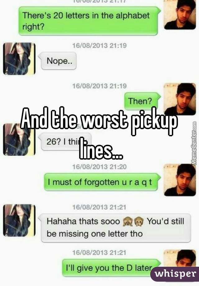 worst chat up lines ever