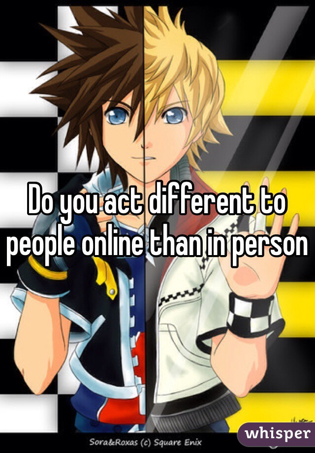 Why do people act differently online