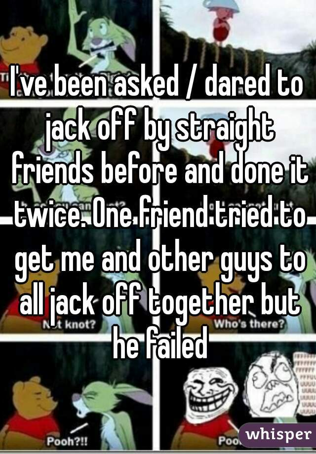 Friends jack each other off
