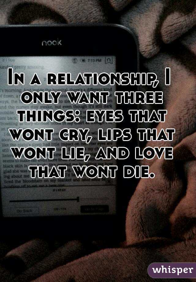 A I Want In Relationship Things 3