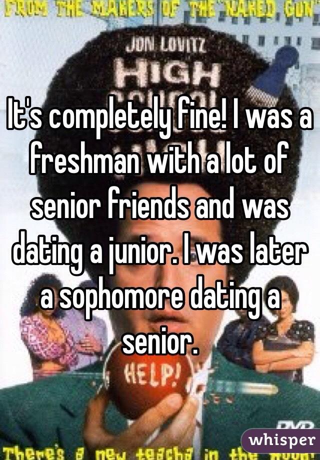 Im A Junior Dating A Sophomore