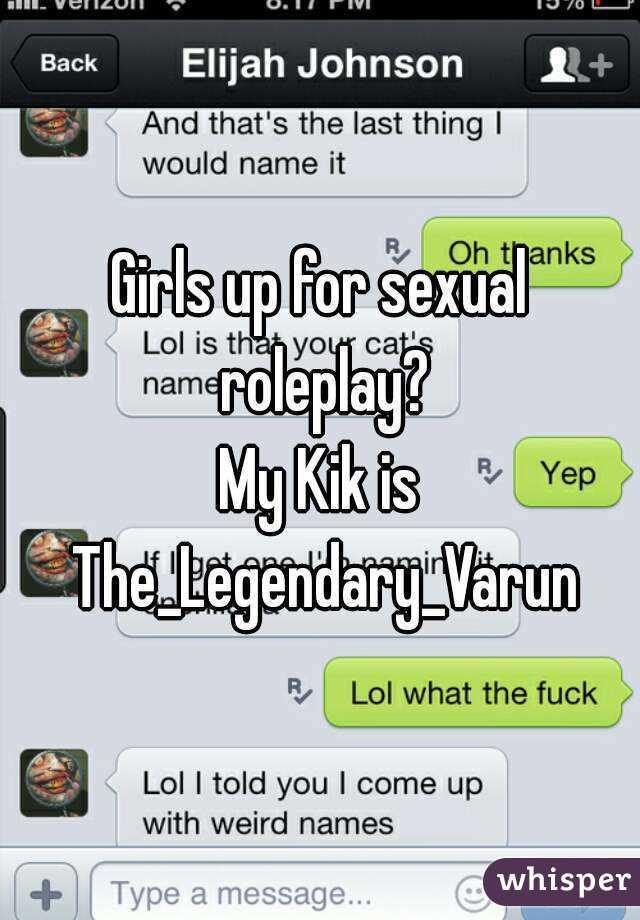 How do you roleplay on kik