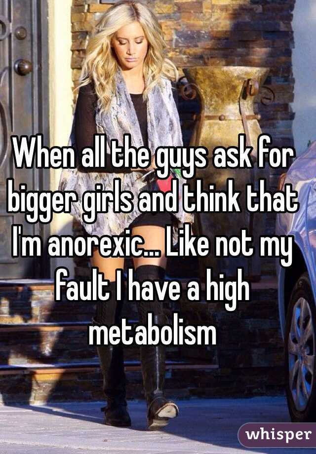 what do guys think of girls with anorexia