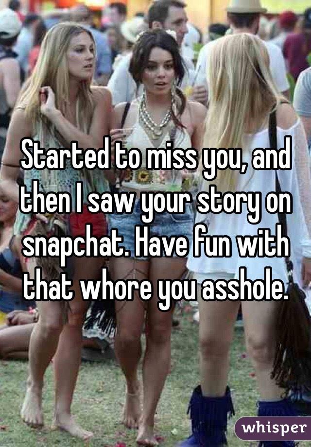 Asshole snapchat
