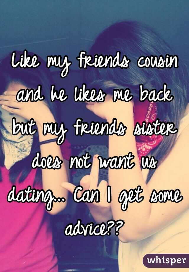 dating my friends cousin