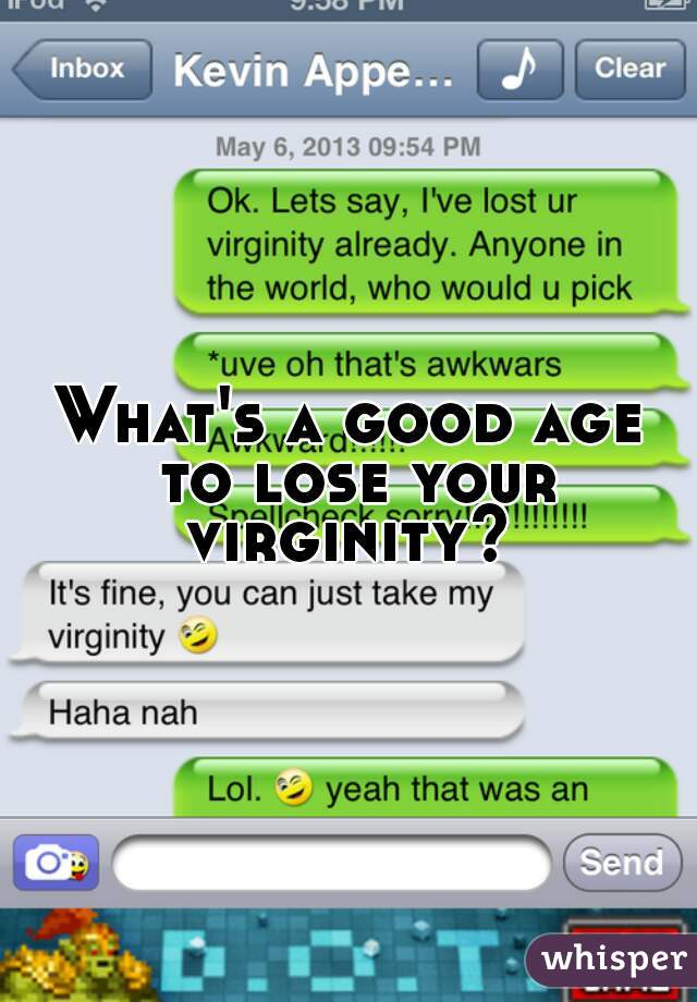 Age lose your virginity