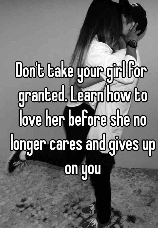 how to not take your girlfriend for granted