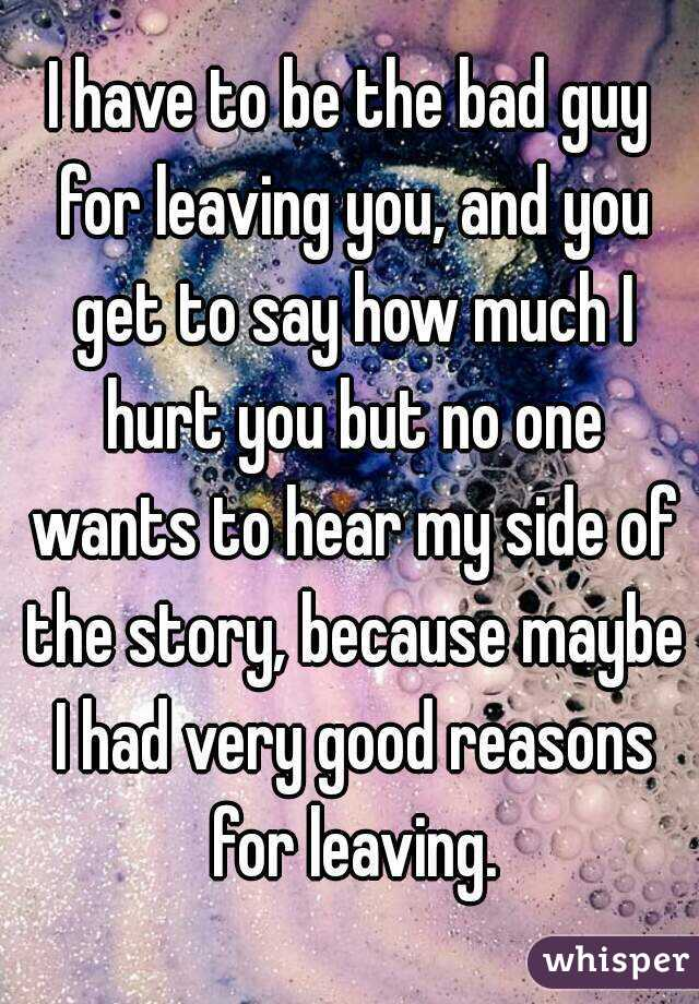 good reasons for leaving good reasons for