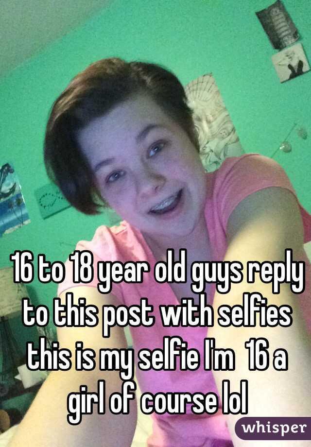 18 year old girl selfie