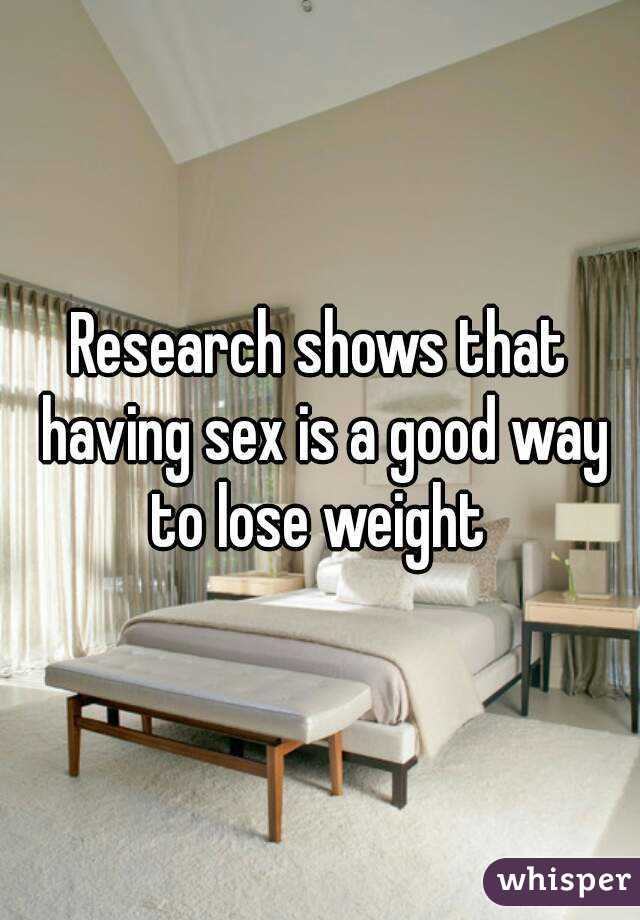 How to loose weight having sex