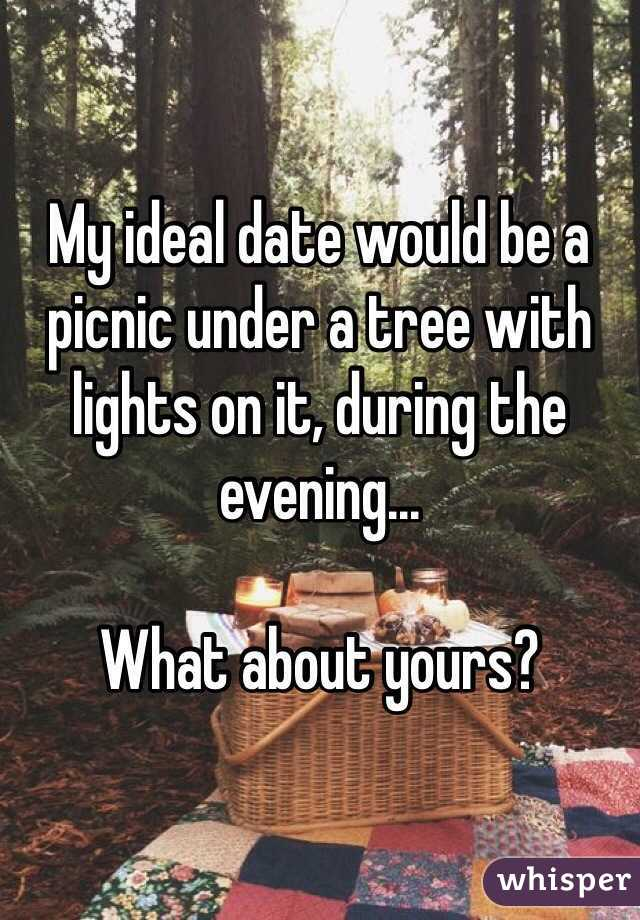 What is my ideal date
