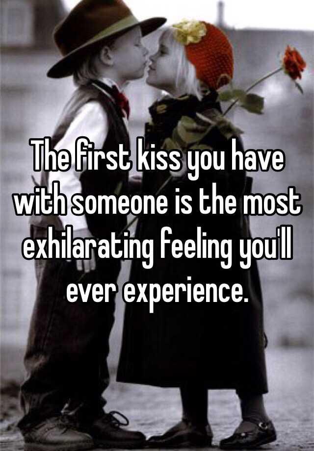 I have a feeling we should kiss