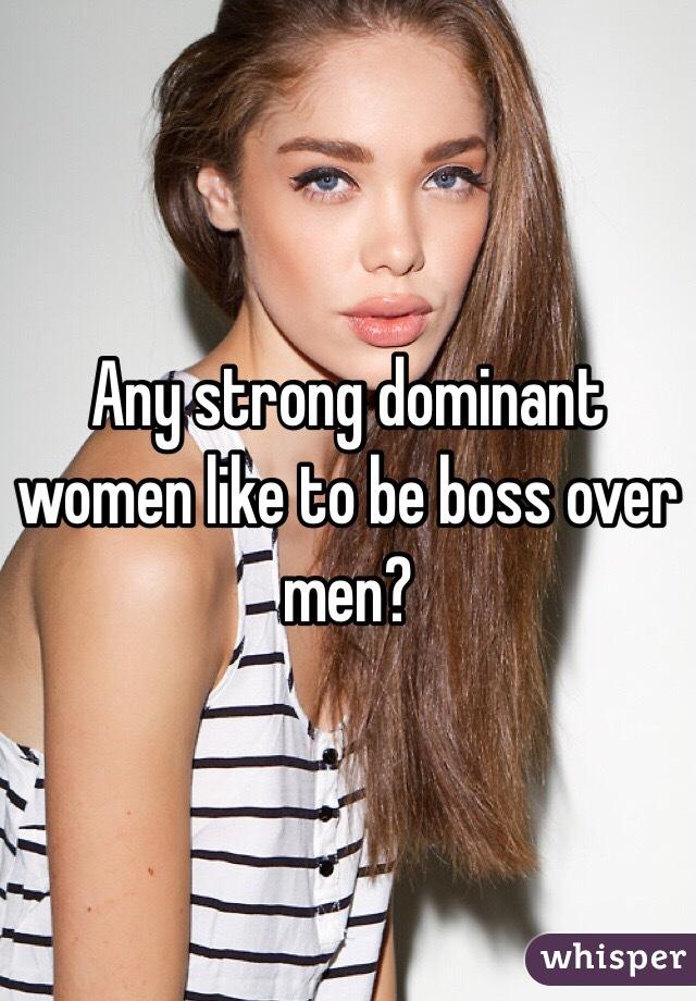 Men Women Dominant Why Do Like