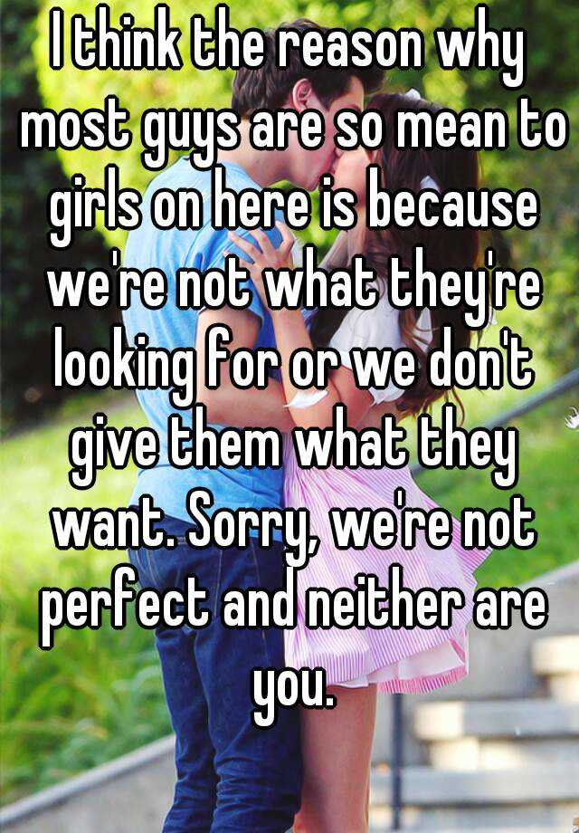 why are we not perfect