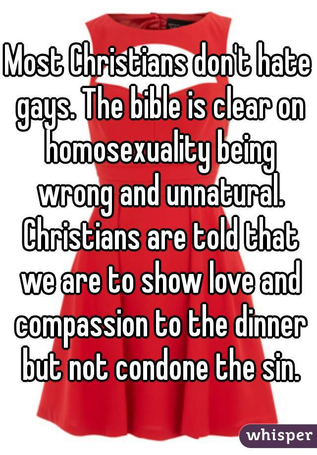 Unnaturalness of homosexuality and christianity