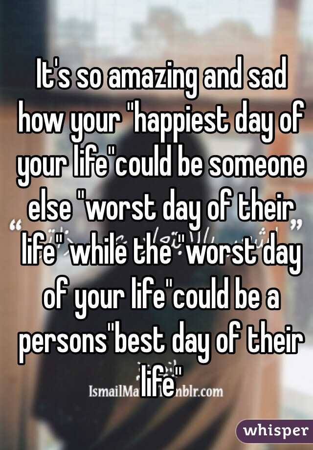 what is the happiest day of your life
