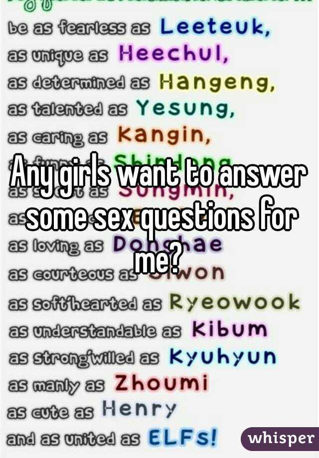 Question and answers on sex