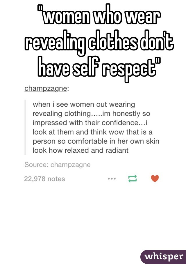 Women and self respect