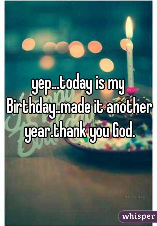 wm thanking god for another year