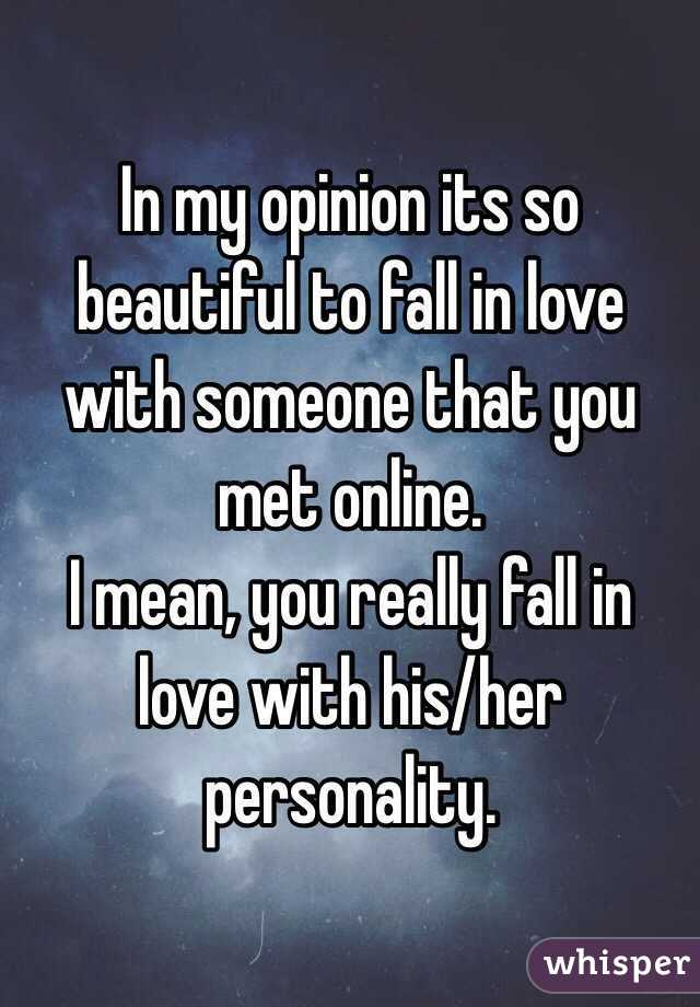 Is it possible to fall in love online