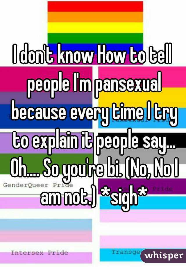Dating a pansexual