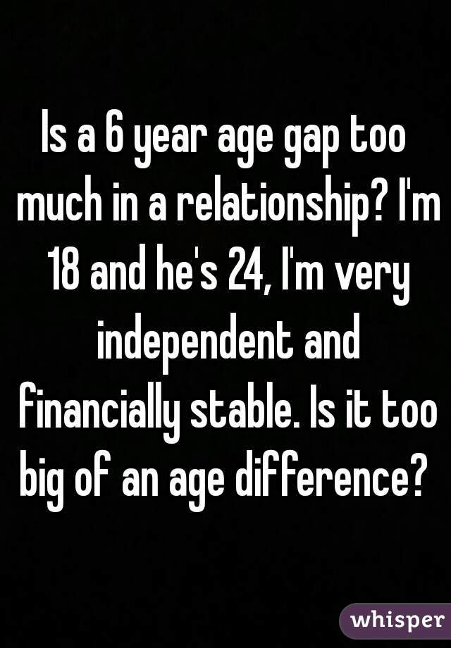 What age difference is too much in a relationship