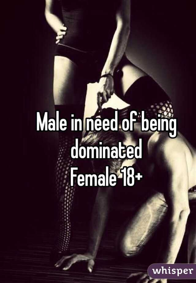 Male being domination