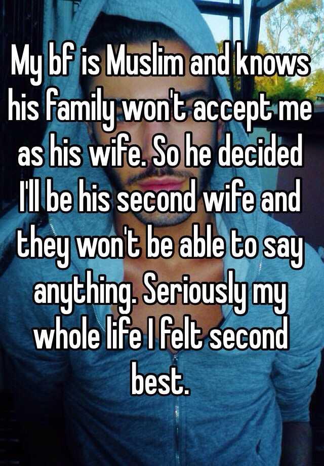 muslim second wife