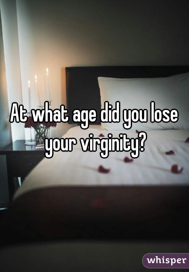When will you lose your virginity