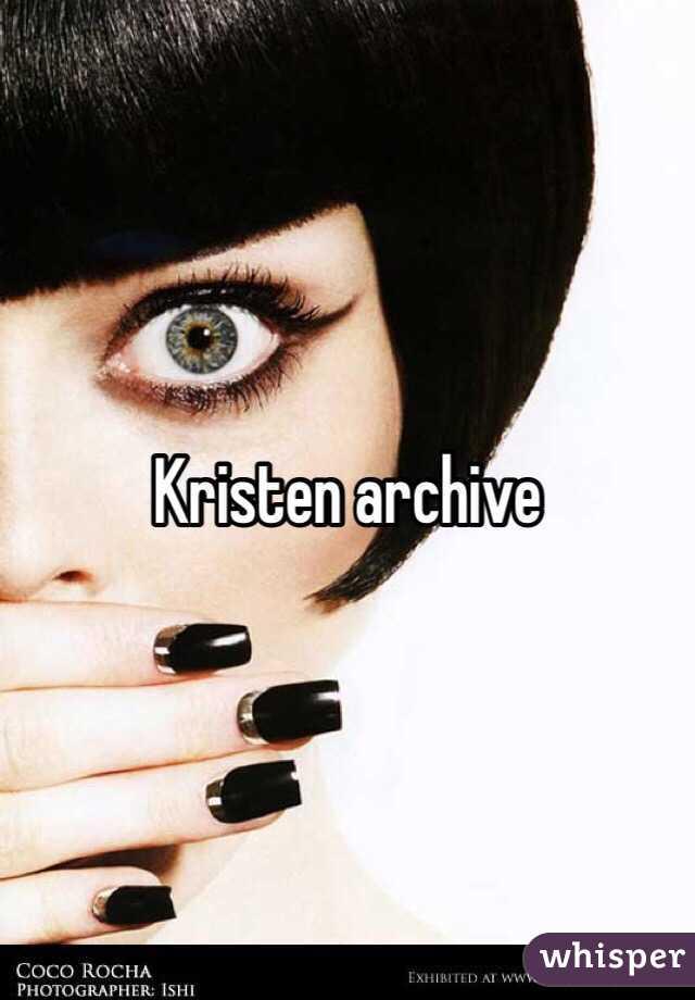 Kirsten archieve