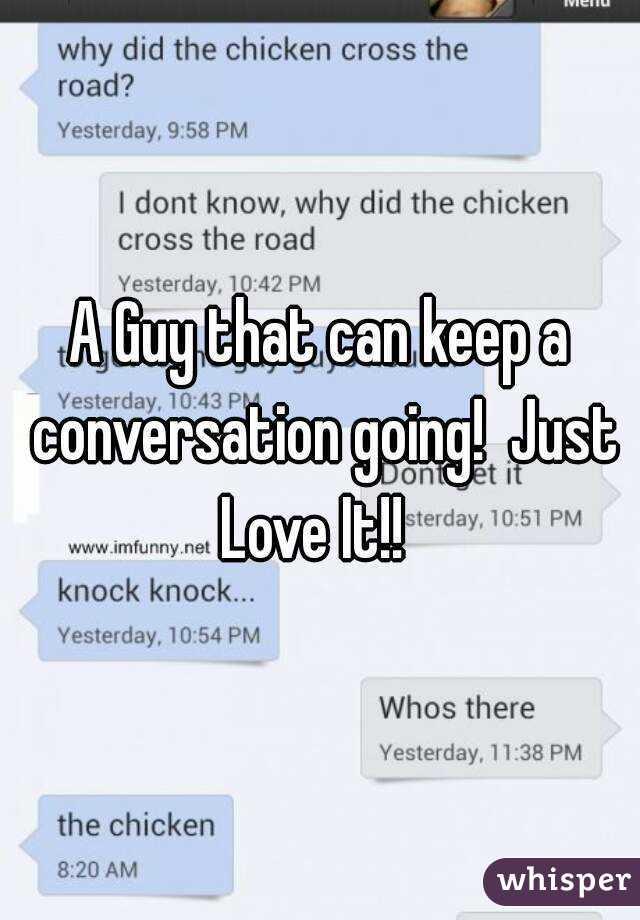 keep a conversation