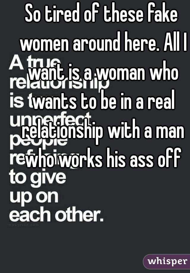 I want a real woman