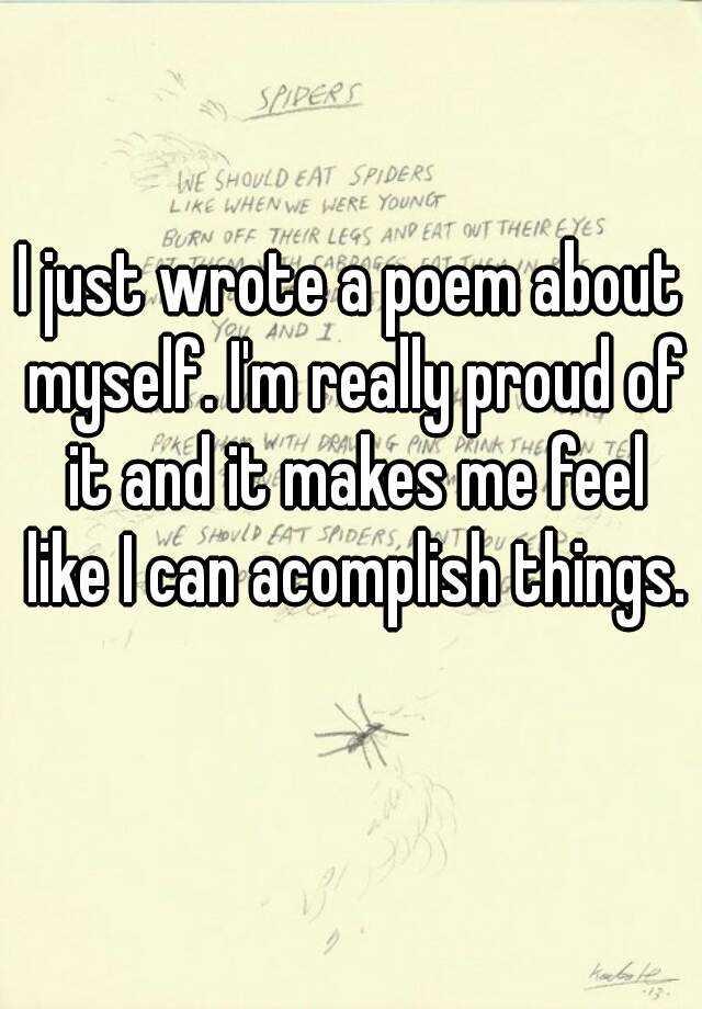 the poem myself