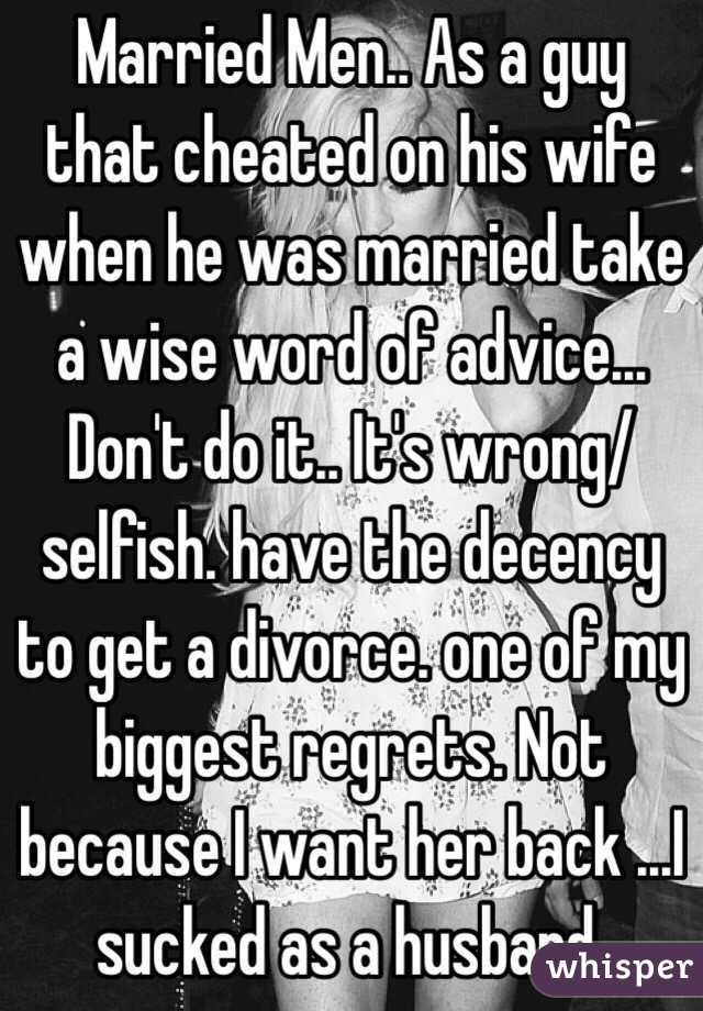 Wife cheating husband divorce