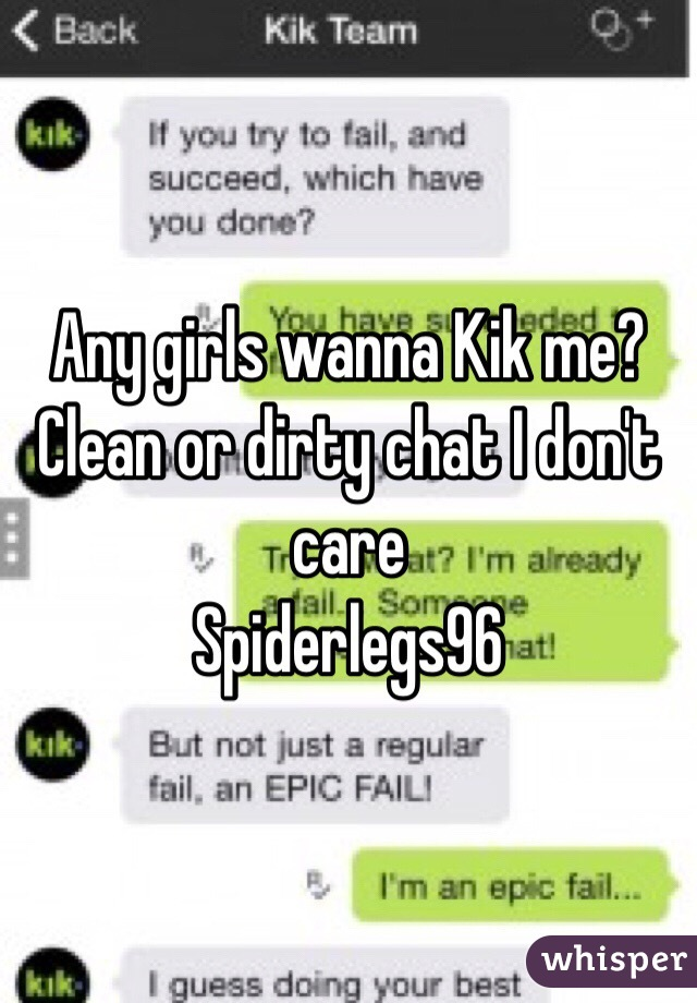 Dirty talk on kik