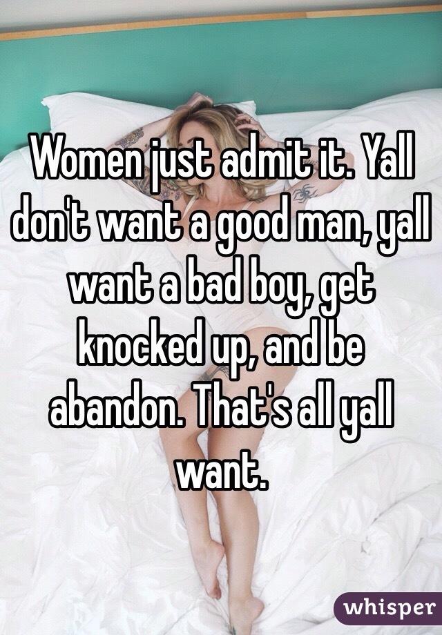 I just want a good man