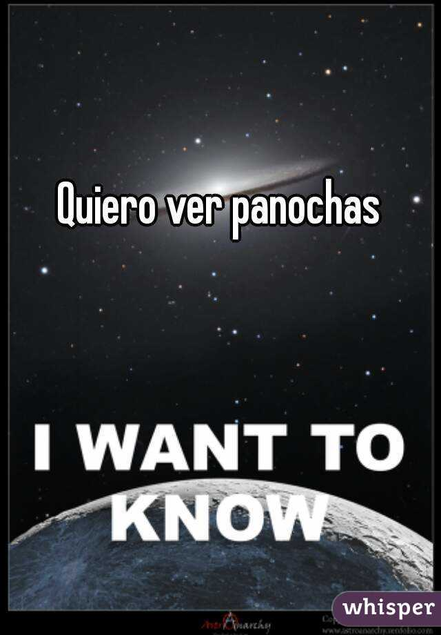 Quiero Ver Panochas