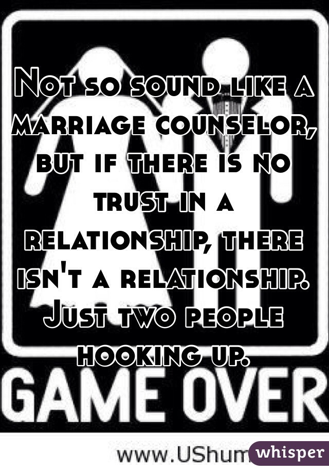 no trust in marriage