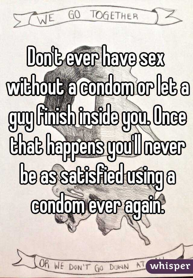 How to have sex without a condom