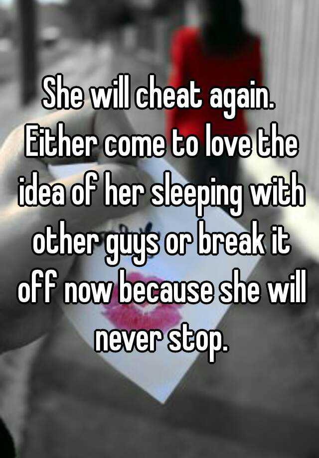 will she cheat again