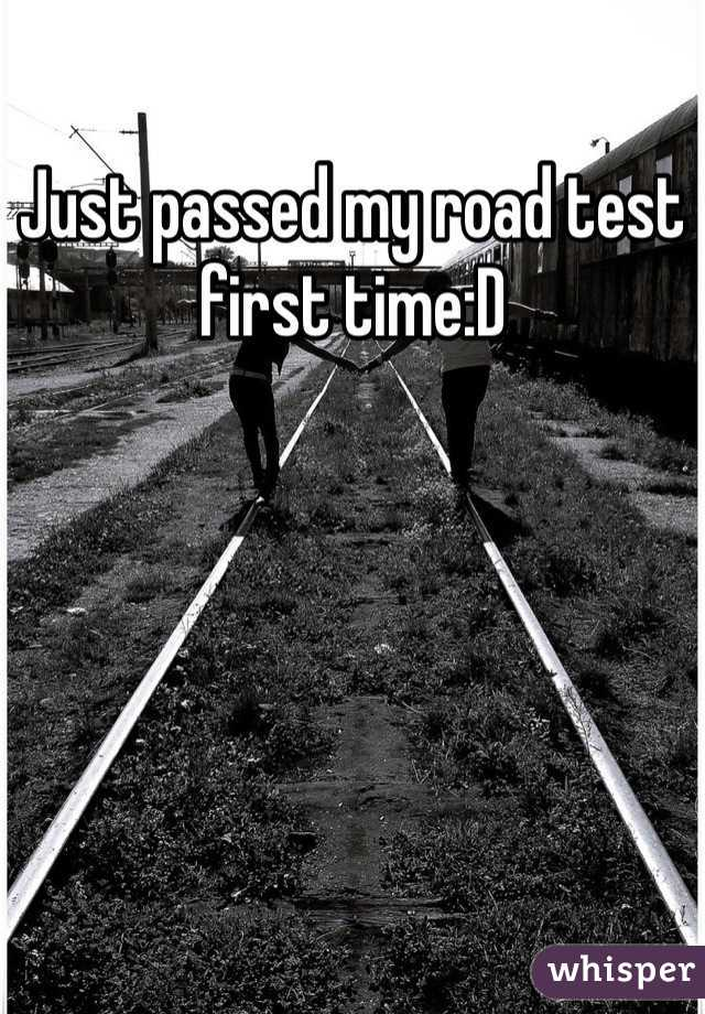 Just passed my road test first time:D
