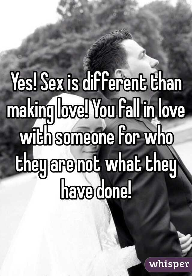 Sex makes you fall in love