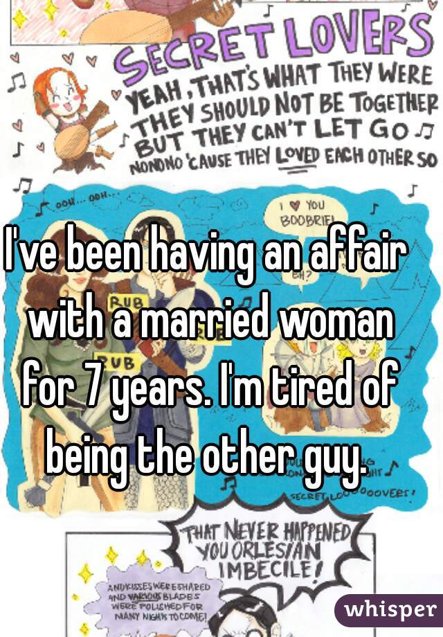 having an affair with a married woman