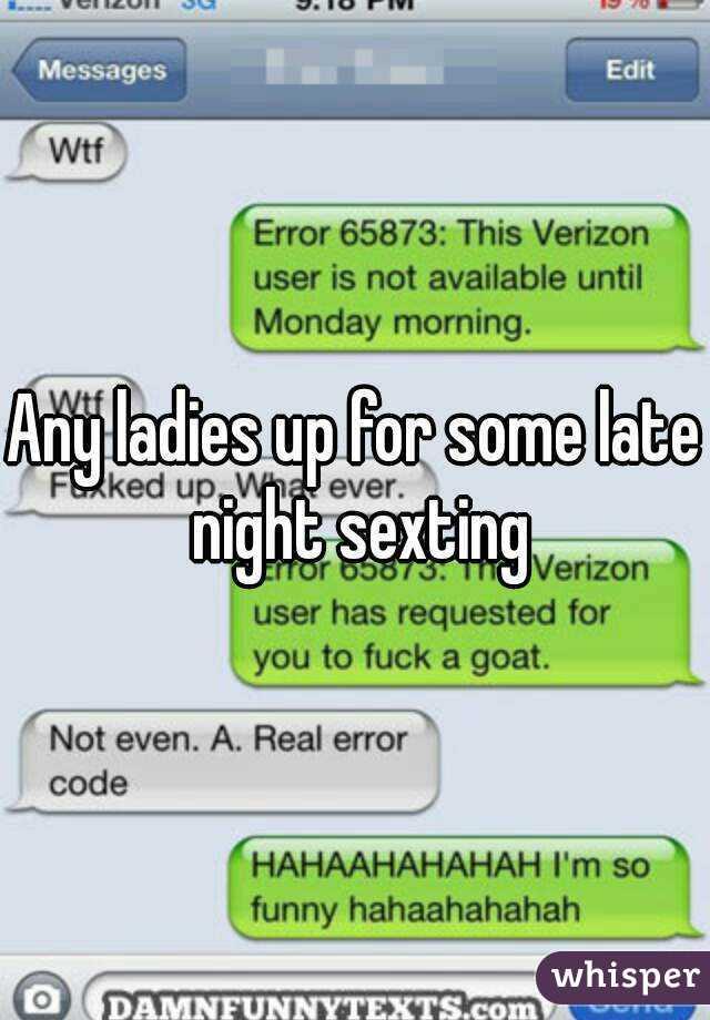 Late night sexting