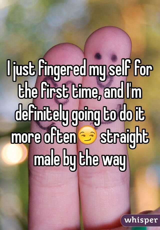 Fingered for the first time