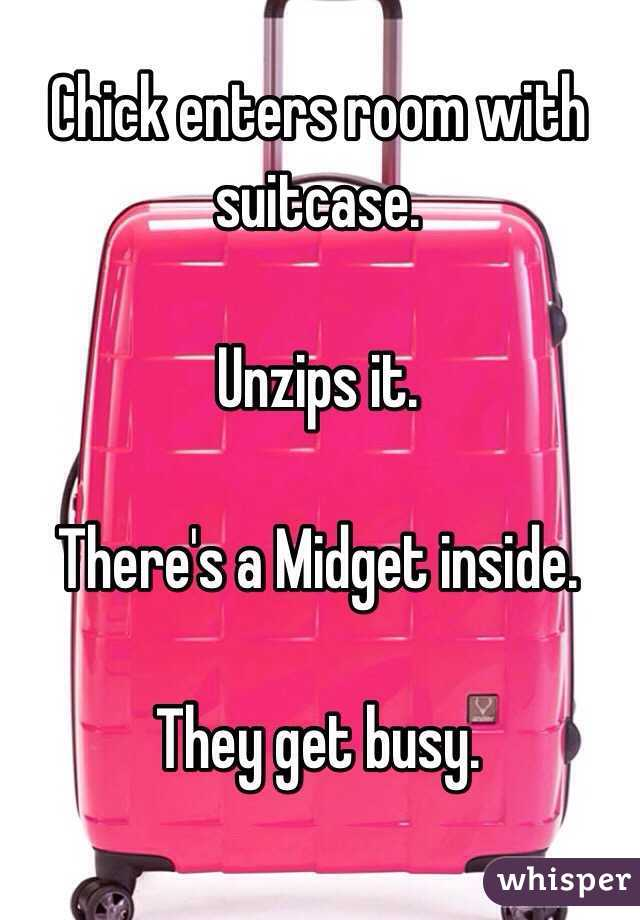 Midget in a suitcase
