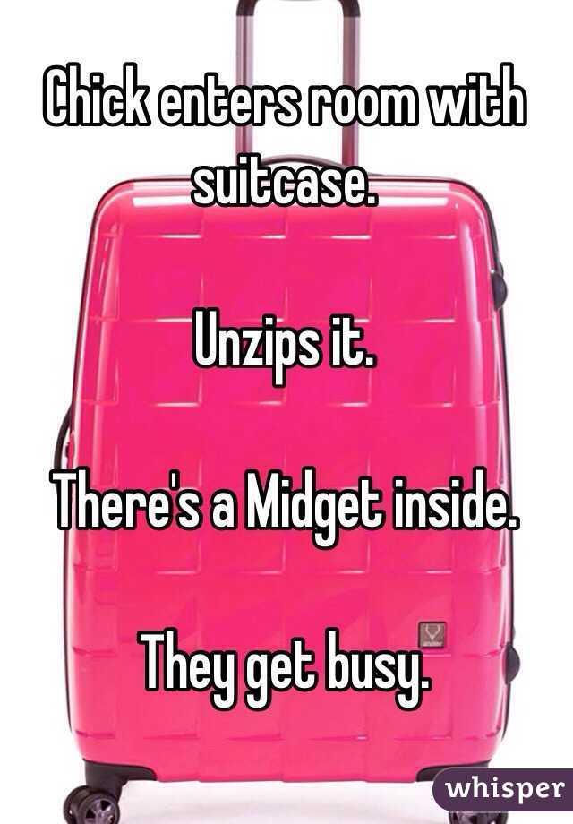 Midget in a suitcase