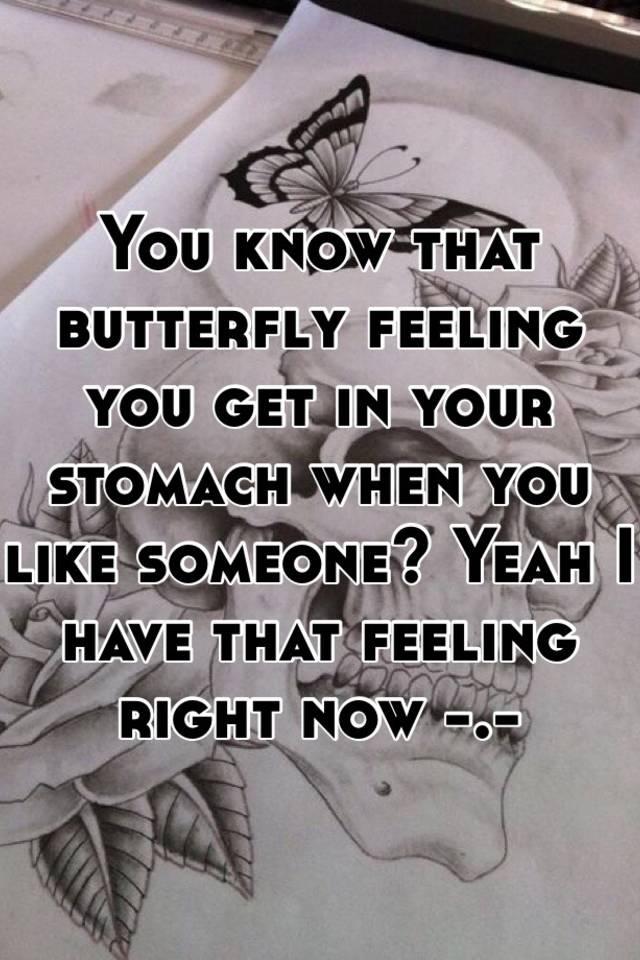 Butterfly feeling in heart